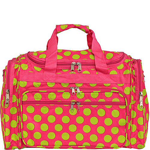 World Traveler Dots Ll  Shoulder Duffle Bag