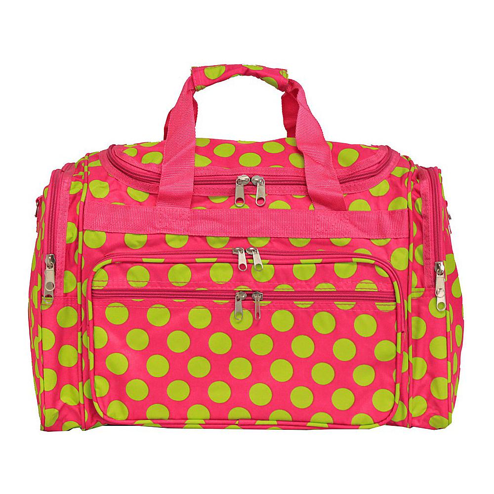World Traveler Dots ll 19 Shoulder Duffle Bag Fuchsia Lime Dot II - World Traveler Rolling Duffels - Luggage, Rolling Duffels