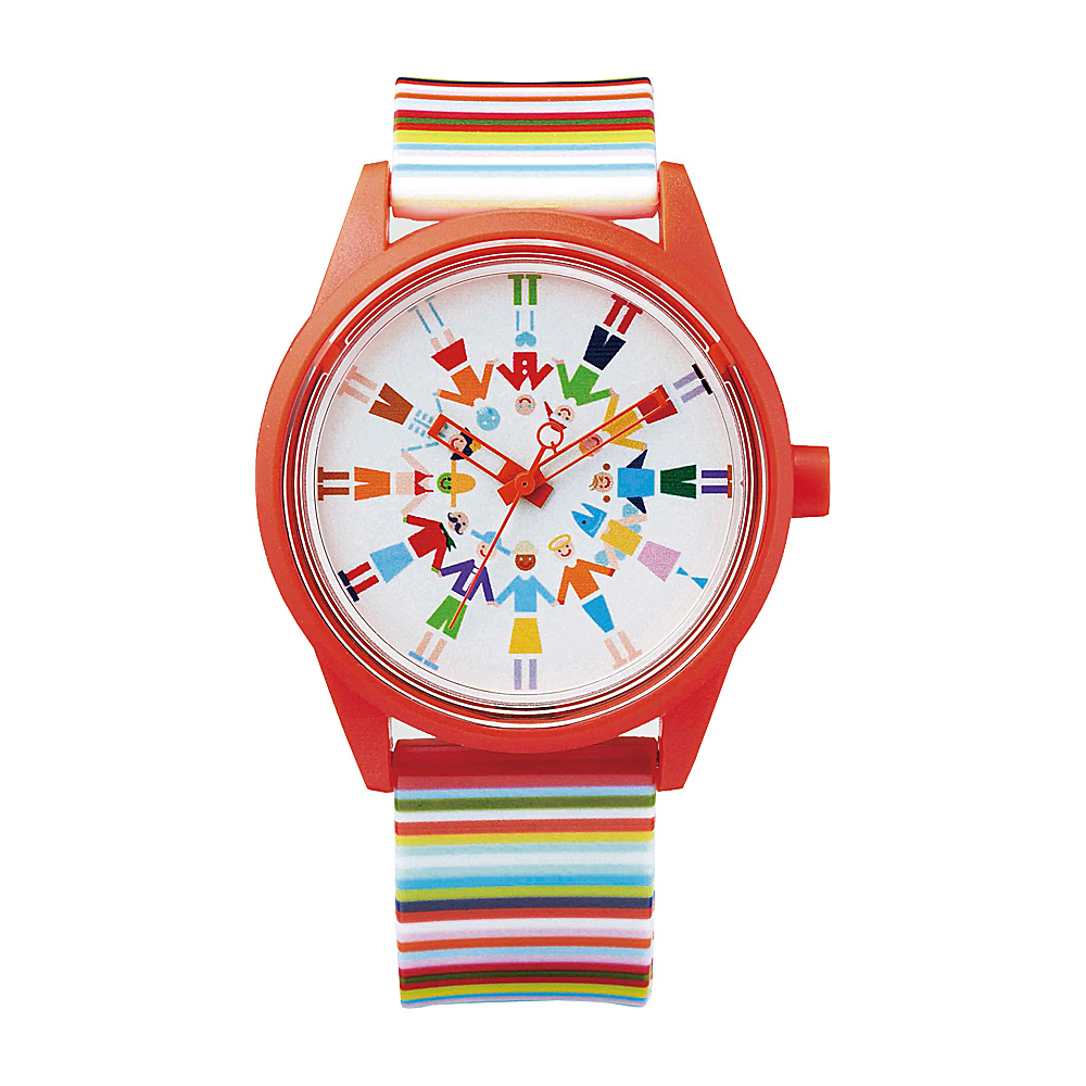 Q & Q Smile Solar Women's Spice Collection Watch Multi Stripe - Q & Q Smile Solar Watches