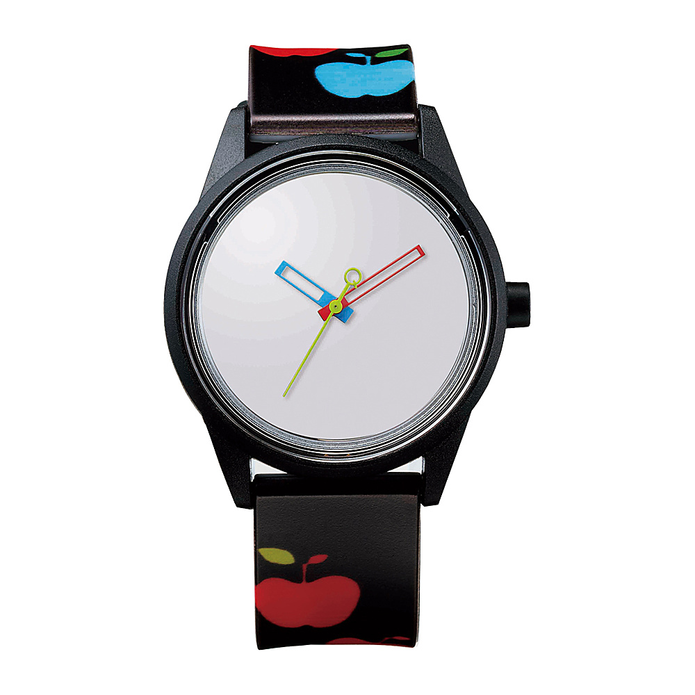 Q & Q Smile Solar Women's Spice Collection Watch Apple Print - Q & Q Smile Solar Watches