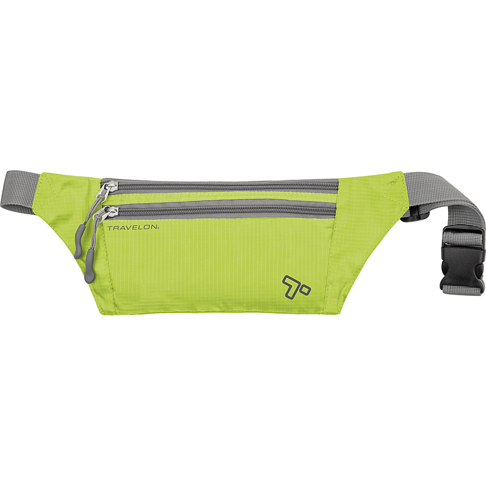 Travelon Double Zip Waistpack Lime - Travelon Waist Packs - Backpacks, Waist Packs