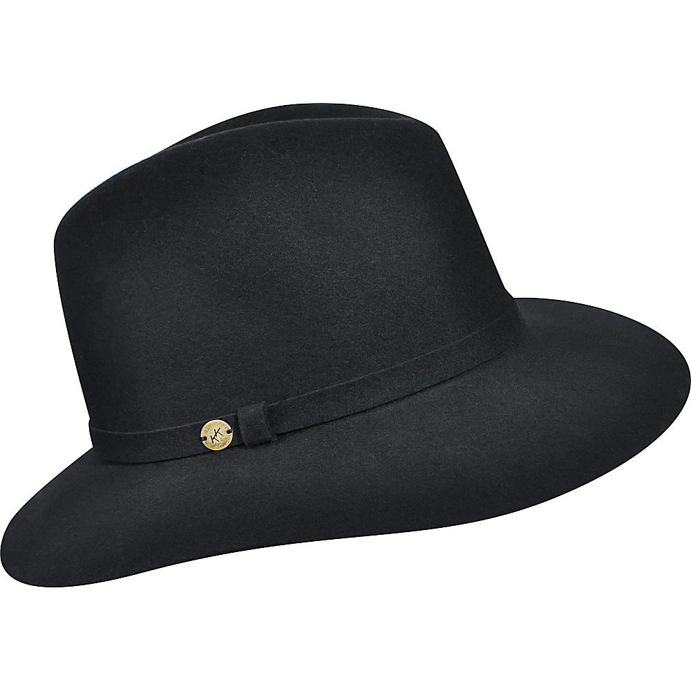 Karen Kane Hats Raw Edge Trilby Black Small Medium Karen Kane Hats Hats Gloves Scarves