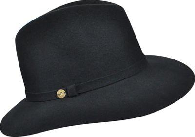 Karen Kane Hats Raw Edge Trilby Black-Medium/Large - Karen Kane Hats Hats/Gloves/Scarves
