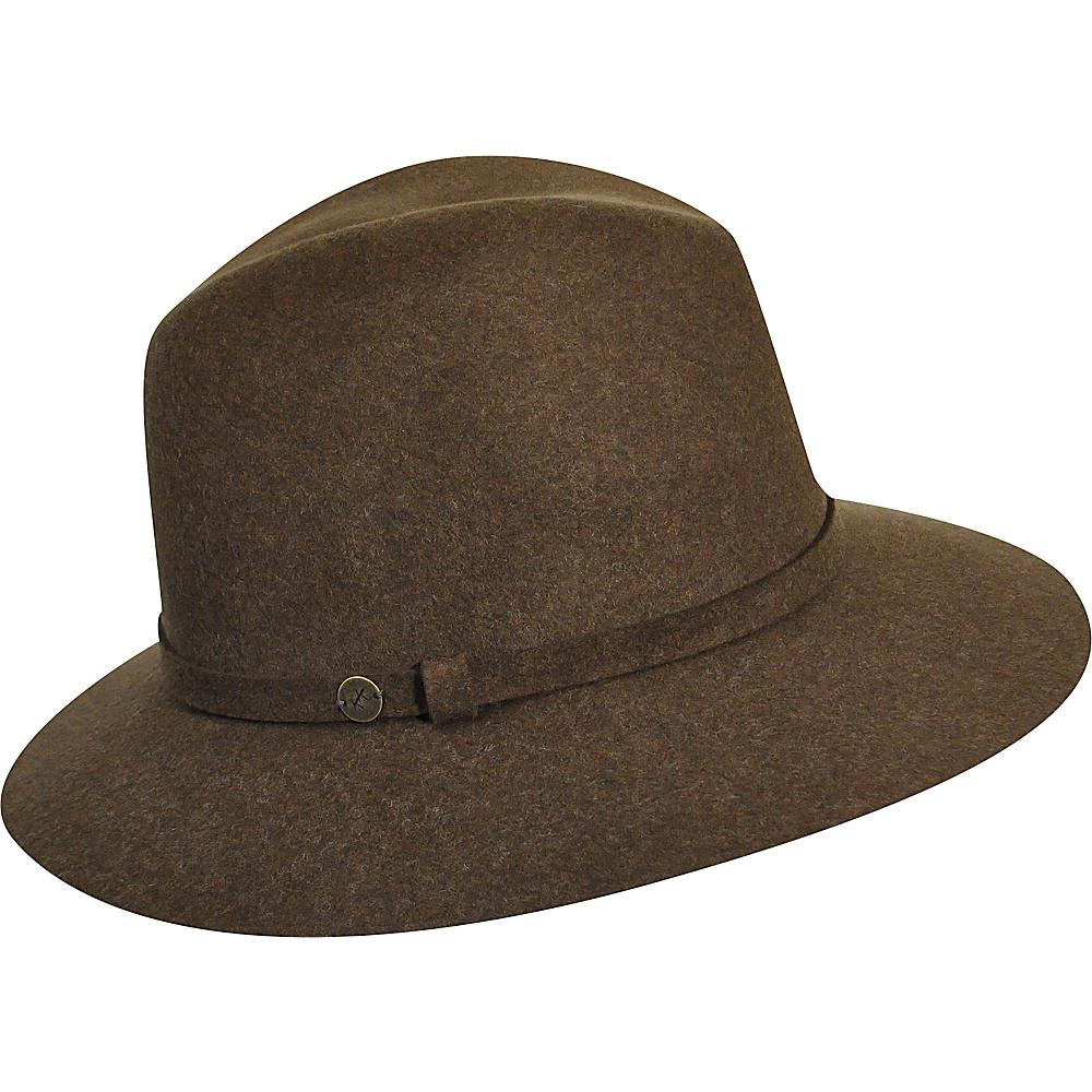 Karen Kane Hats Raw Edge Trilby NU Olive Mix Karen Kane Hats Hats Gloves Scarves