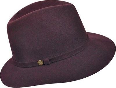 Karen Kane Hats Raw Edge Trilby Plum - Karen Kane Hats Hats/Gloves/Scarves