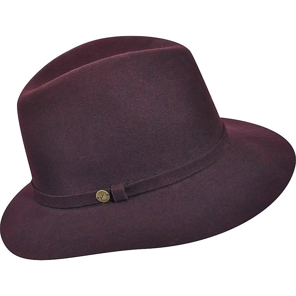 Karen Kane Hats Raw Edge Trilby Plum Karen Kane Hats Hats Gloves Scarves