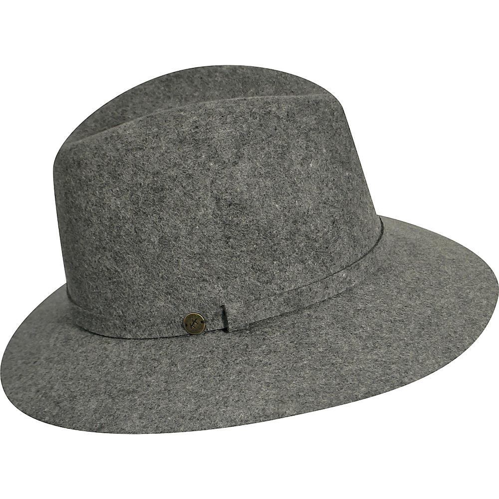 Karen Kane Hats Raw Edge Trilby Slate Mix Karen Kane Hats Hats Gloves Scarves