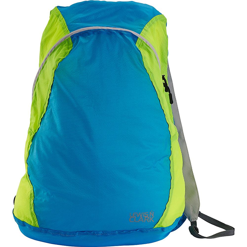 Lewis N. Clark ElectroLight Backpack Blue Neon Green Lewis N. Clark Packable Bags