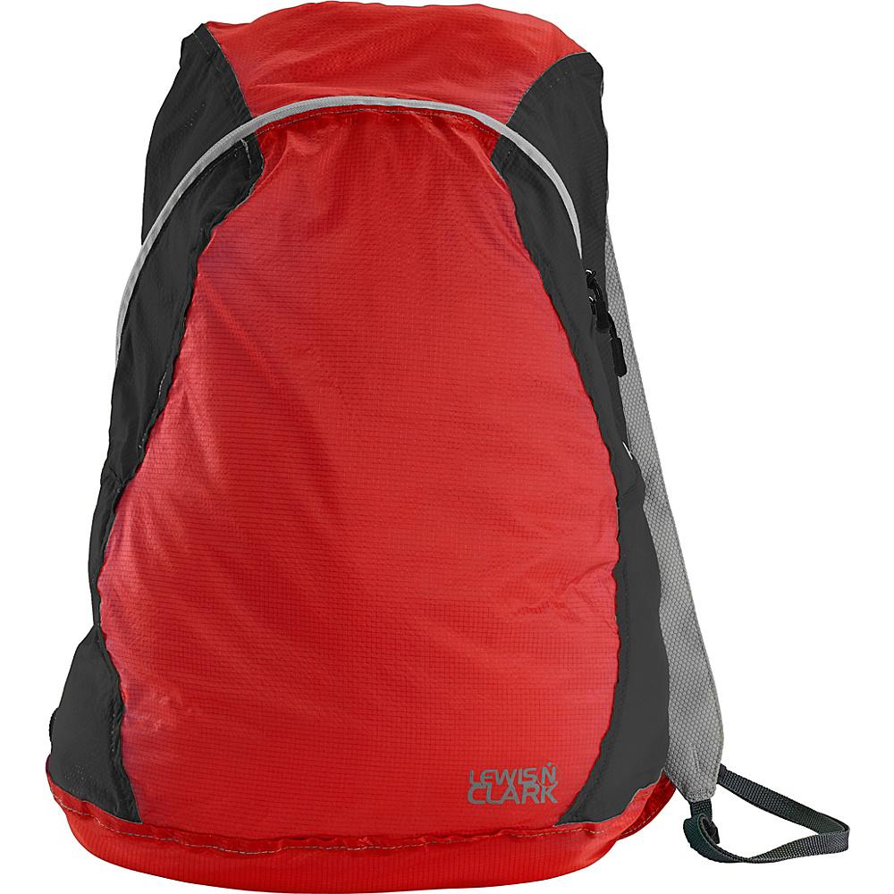 Lewis N. Clark ElectroLight Backpack Red Charcoal Lewis N. Clark Packable Bags