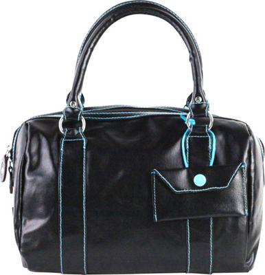 Urban Junket Kelsey Satchel Black - Urban Junket Fabric Handbags