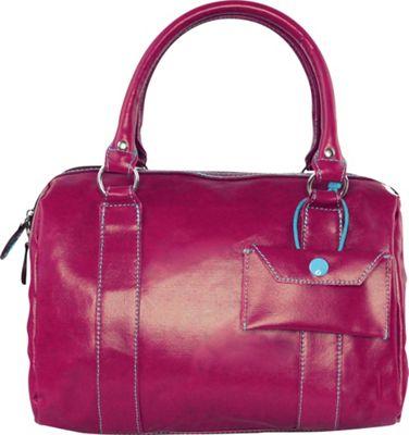 Urban Junket Kelsey Satchel Magenta - Urban Junket Fabric Handbags