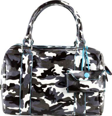 Urban Junket Kelsey Satchel Grey Camouflage - Urban Junket Fabric Handbags