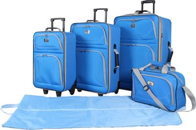 Verdi 5-Piece Travel Set Blue - Verdi Luggage Sets