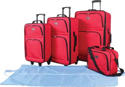 Verdi 5-Piece Travel Set Red - Verdi Luggage Sets