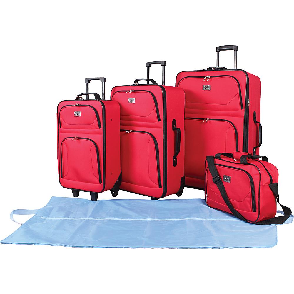 Verdi 5-Piece Travel Set Red - Verdi Luggage Sets