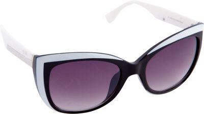 Nanette Nanette Lepore Sunglasses Color Blocking Cat Eye Sunglasses Black/White - Nanette Nanette Lepore Sunglasses Sunglasses
