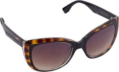 Nanette Nanette Lepore Sunglasses Color Blocking Cat Eye Sunglasses Black/Tortoise - Nanette Nanette Lepore Sunglasses Sunglasses
