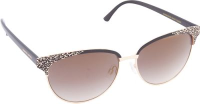 Nanette Nanette Lepore Sunglasses Textured Cat Eye Sunglasses Gold/Black - Nanette Nanette Lepore Sunglasses Sunglasses