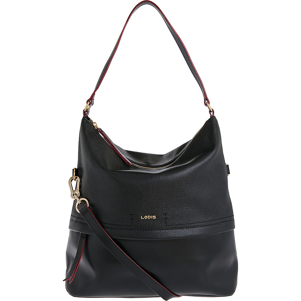 Lodis Kate Sunny Hobo Black - Lodis Leather Handbags - Handbags, Leather Handbags