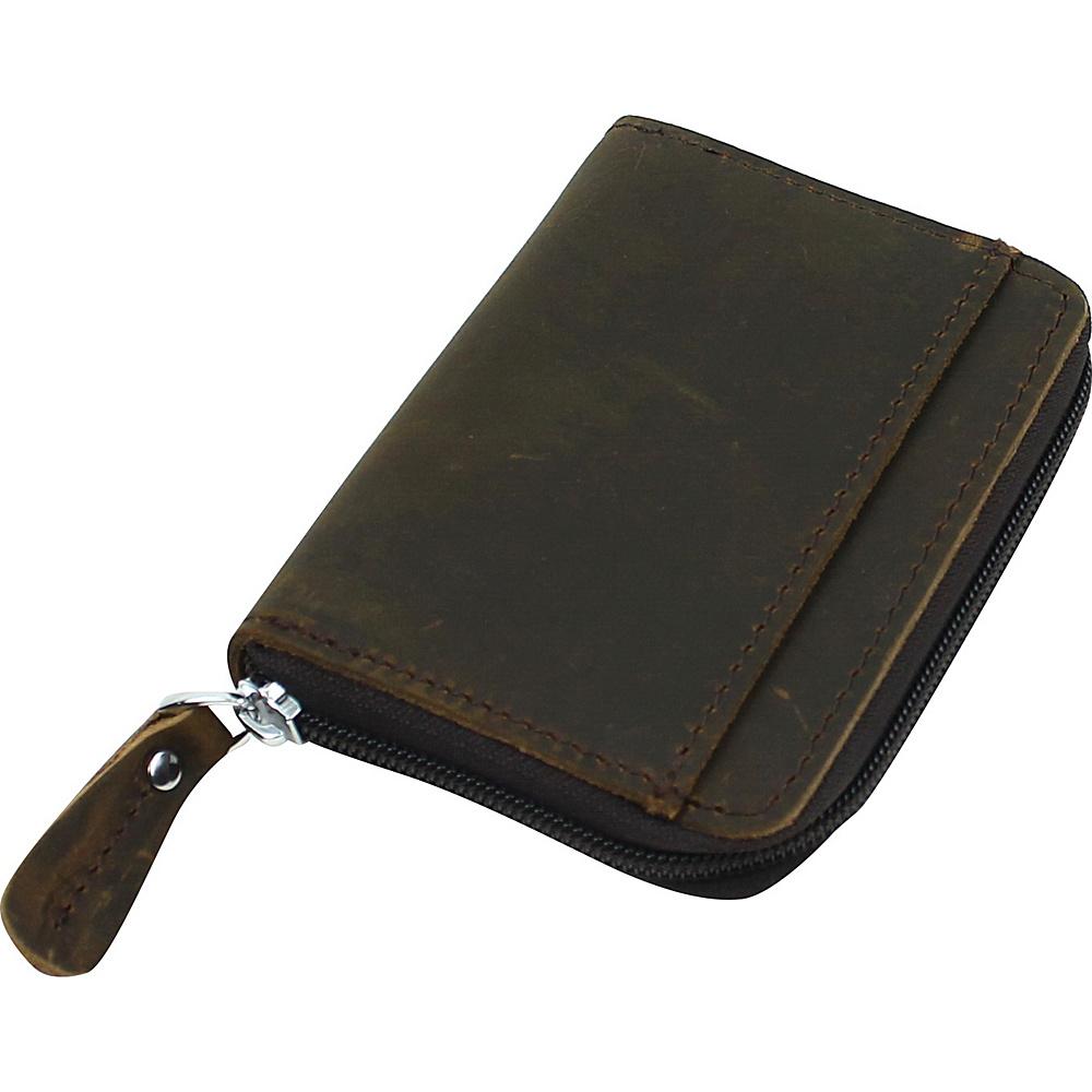 Vagabond Traveler Leather Zippered Wallet Distress - Vagabond Traveler Mens Wallets - Work Bags & Briefcases, Men's Wallets