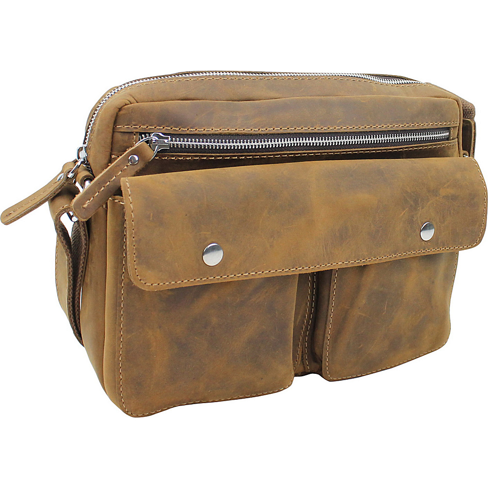 Vagabond Traveler Leather Casual Messenger Bag Vintage Brown - Vagabond Traveler Messenger Bags - Work Bags & Briefcases, Messenger Bags