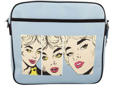 Urban Factory Nice Lady's Vintage bag 12 inch Blue - Urban Factory Non-Wheeled Business Cases