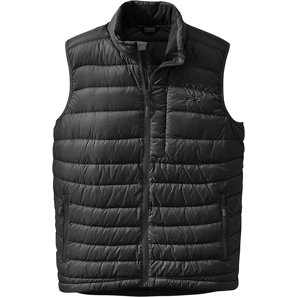 Outdoor Research Mens Transcendent Vest L - Black - Outdoor Research Mens Apparel - Apparel & Footwear, Men's Apparel