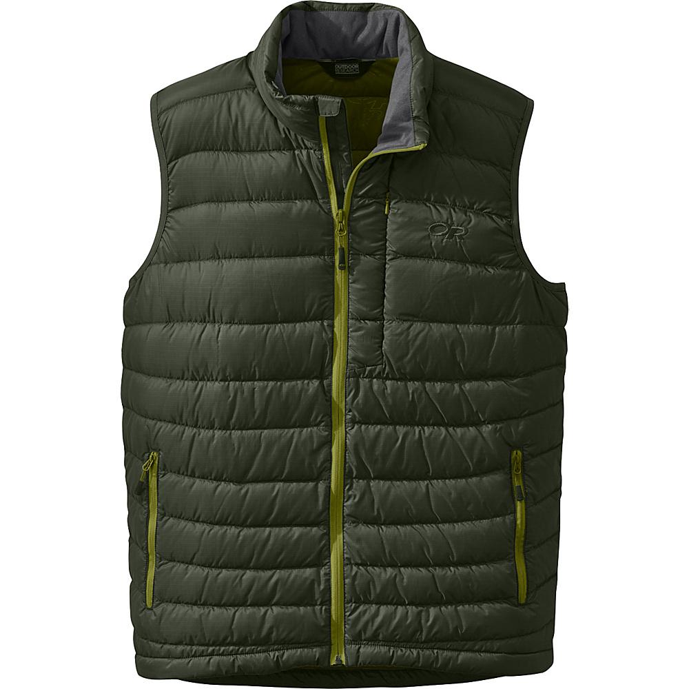 Outdoor Research Mens Transcendent Vest L - Evergreen/Hops - Outdoor Research Mens Apparel - Apparel & Footwear, Men's Apparel