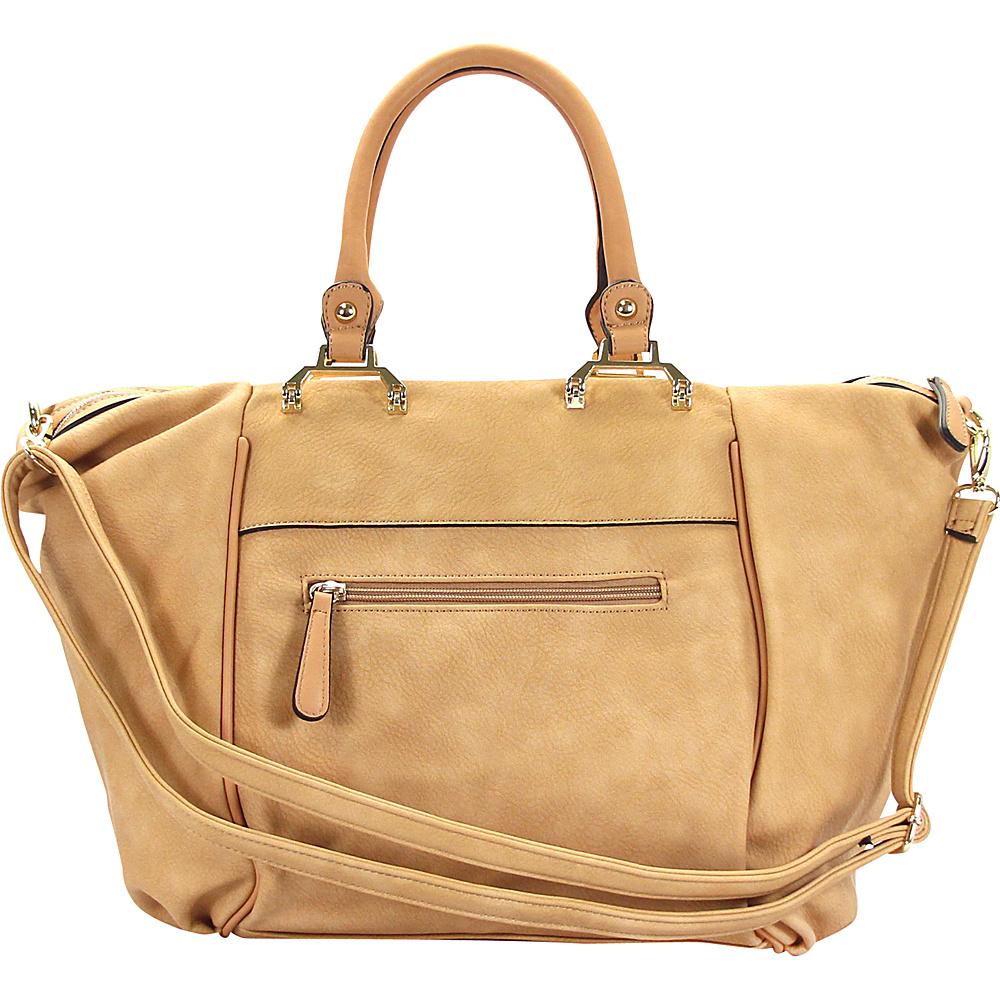 Chasse Wells Bonston Pont Satchel Tote Camel Chasse Wells Manmade Handbags