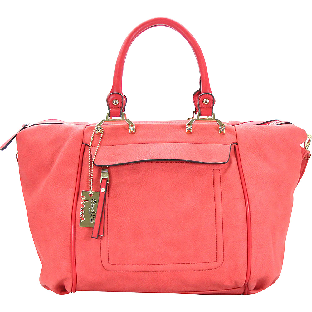 Chasse Wells Bonston Pont Satchel Tote Red Chasse Wells Manmade Handbags