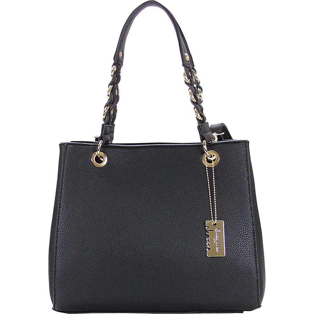 Chasse Wells Vrai Shoulder Tote Black Chasse Wells Manmade Handbags