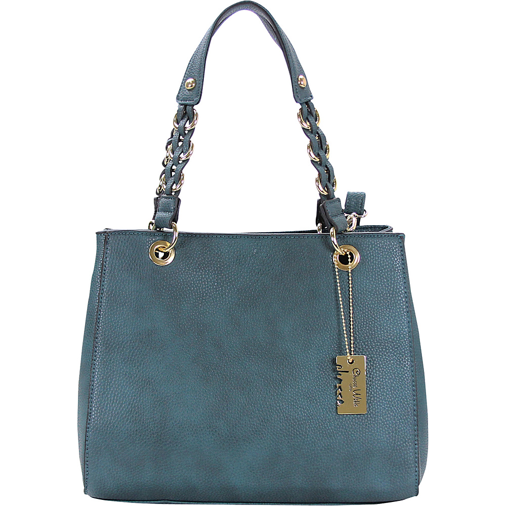 Chasse Wells Vrai Shoulder Tote BLUE Chasse Wells Manmade Handbags