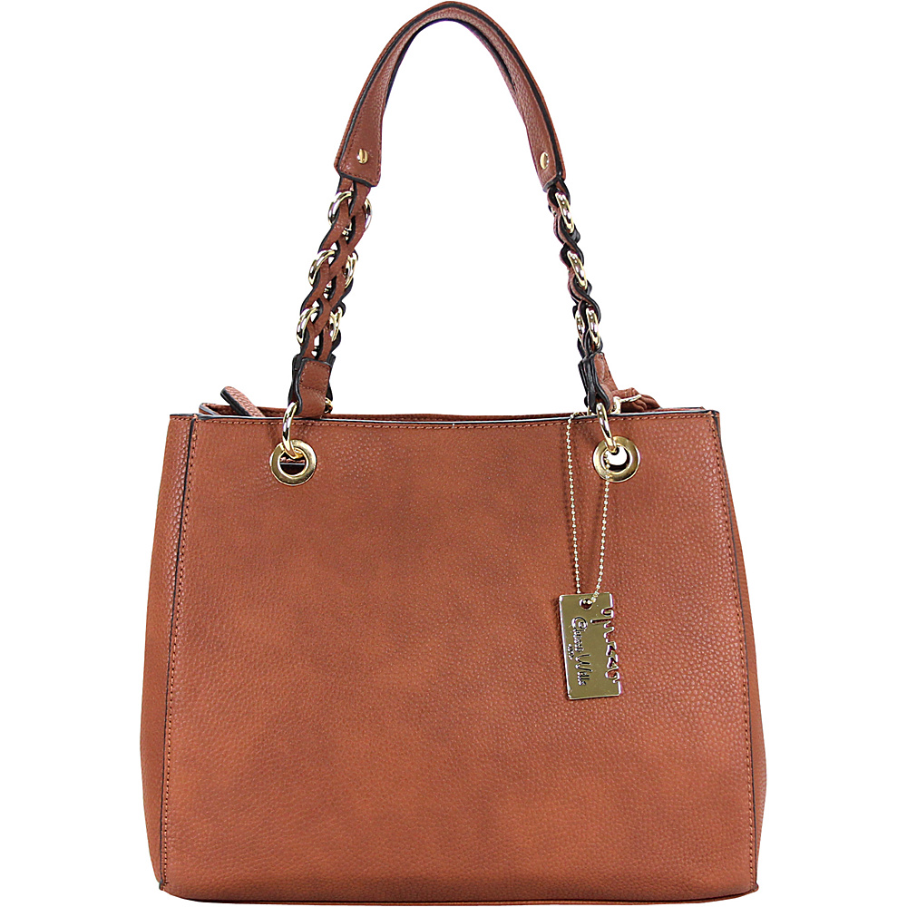 Chasse Wells Vrai Shoulder Tote Brown Chasse Wells Manmade Handbags