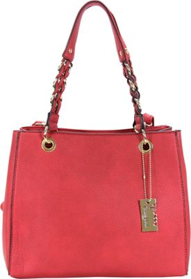 Chasse Wells Vrai Shoulder Tote Red - Chasse Wells Manmade Handbags