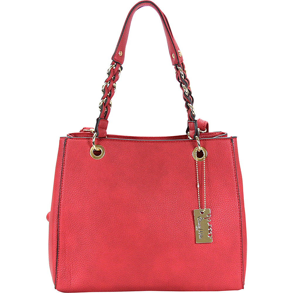 Chasse Wells Vrai Shoulder Tote Red Chasse Wells Manmade Handbags