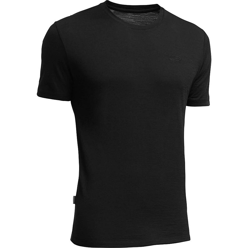 Icebreaker Men s Tech Lite SS Shirt S Black Icebreaker Men s Apparel