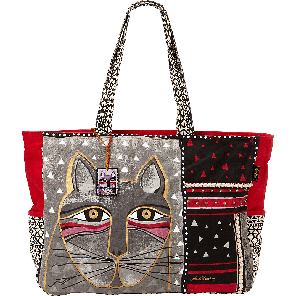Laurel Burch Whiskered Cats Oversized Tote Whiskered Cats - Laurel Burch Fabric Handbags