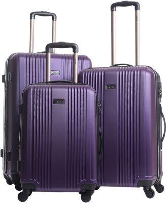 CALPAK Torrino II 3-Piece Lightweight Expandable Hardside Spinner Luggage Set Eggplant - CALPAK Luggage Sets