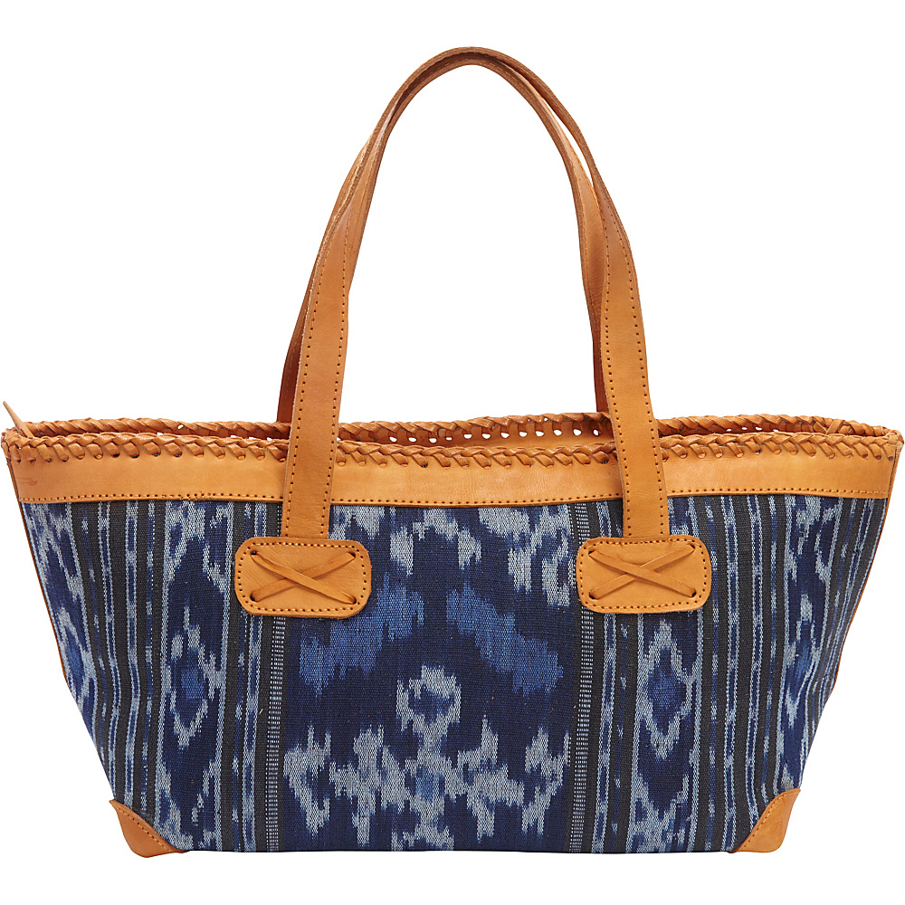 TLC you Ayana Satchel Blue Black TLC you Fabric Handbags