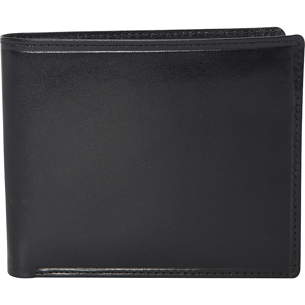 Clava Men s Bifold Wallet Glazed Italian Black Clava Men s Wallets