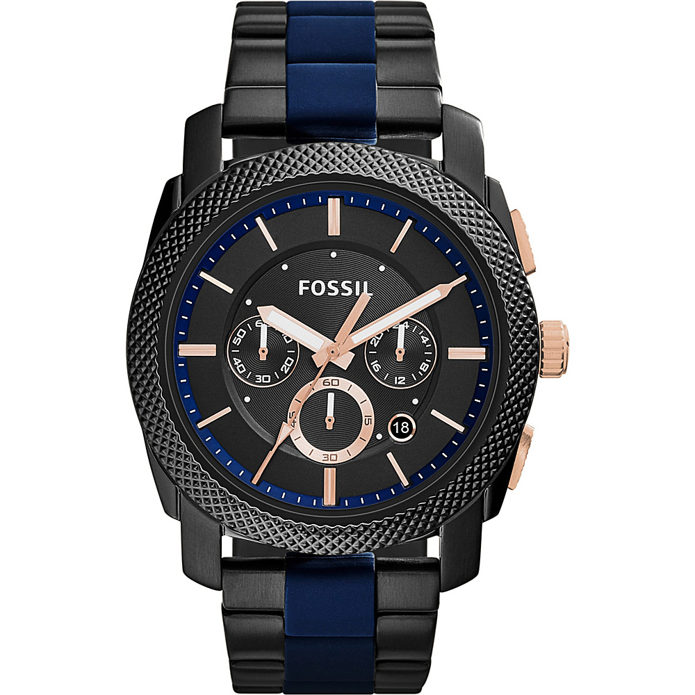 Fossil Machine Stainless Steel Watch Black - Fossil Watches - Fashion Accessories, Watches