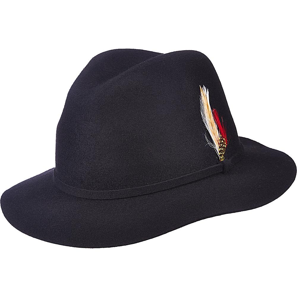 Scala Hats Felt Safari Hat Black Scala Hats Hats Gloves Scarves