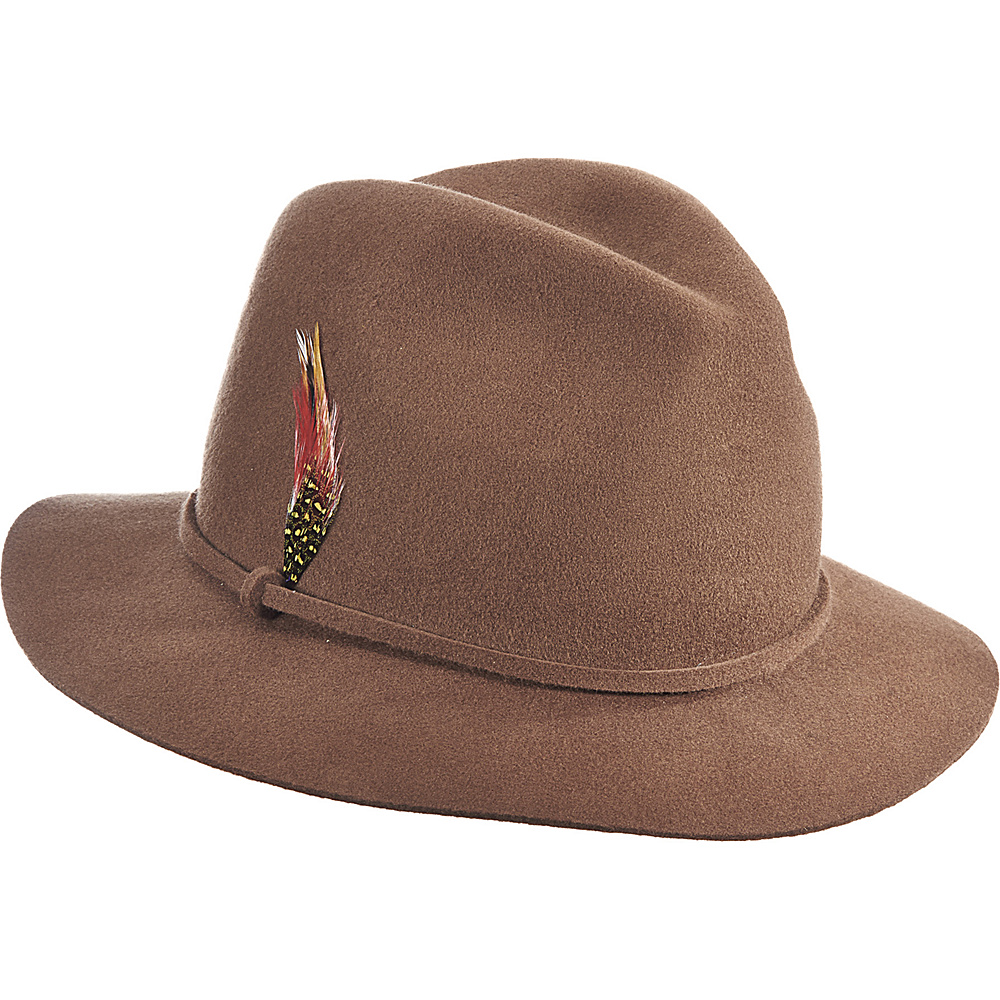 Scala Hats Felt Safari Hat Pecan Scala Hats Hats Gloves Scarves