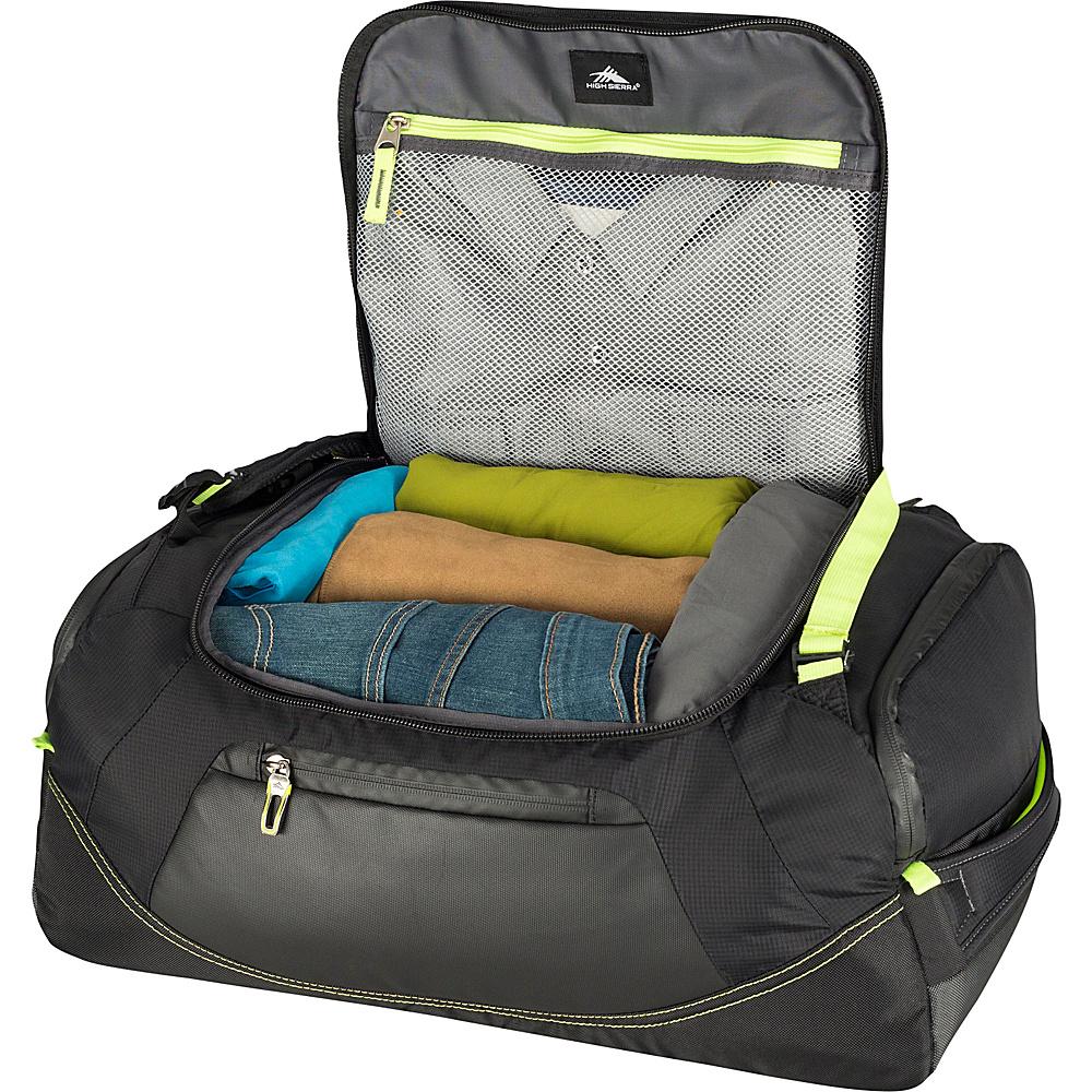 """High Sierra AT8 22"""" Duffel Backpack Black/Zest - High Sierra Outdoor Duffels"""