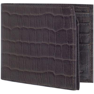 Access Denied RFID Blocking Men's Bi-Fold Leather Wallet Grey Crocodile - Access Denied Men's Wallets
