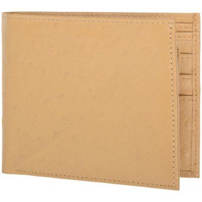 Access Denied RFID Blocking Men's Bi-Fold Leather Wallet Camel Ostrich - Access Denied Men's Wallets