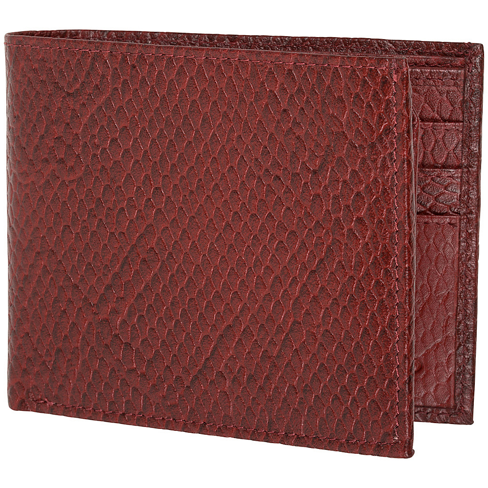 Access Denied RFID Blocking Men s Bi Fold Leather Wallet Cognac Snake Access Denied Men s Wallets