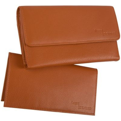 Access Denied Women's Leather Wallet and Checkbook Tan - Access Denied Women's Wallets