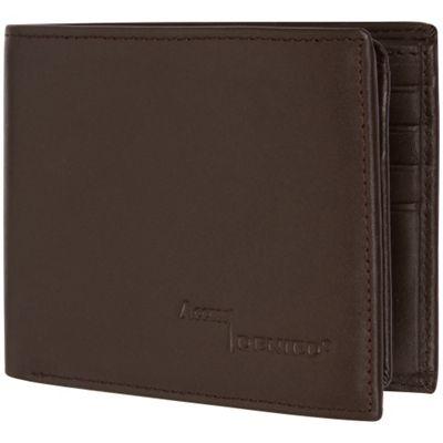 Access Denied Men's RFID Blocking Wallet Leather 11 Slots Flip ID Coffee Smooth - Access Denied Men's Wallets