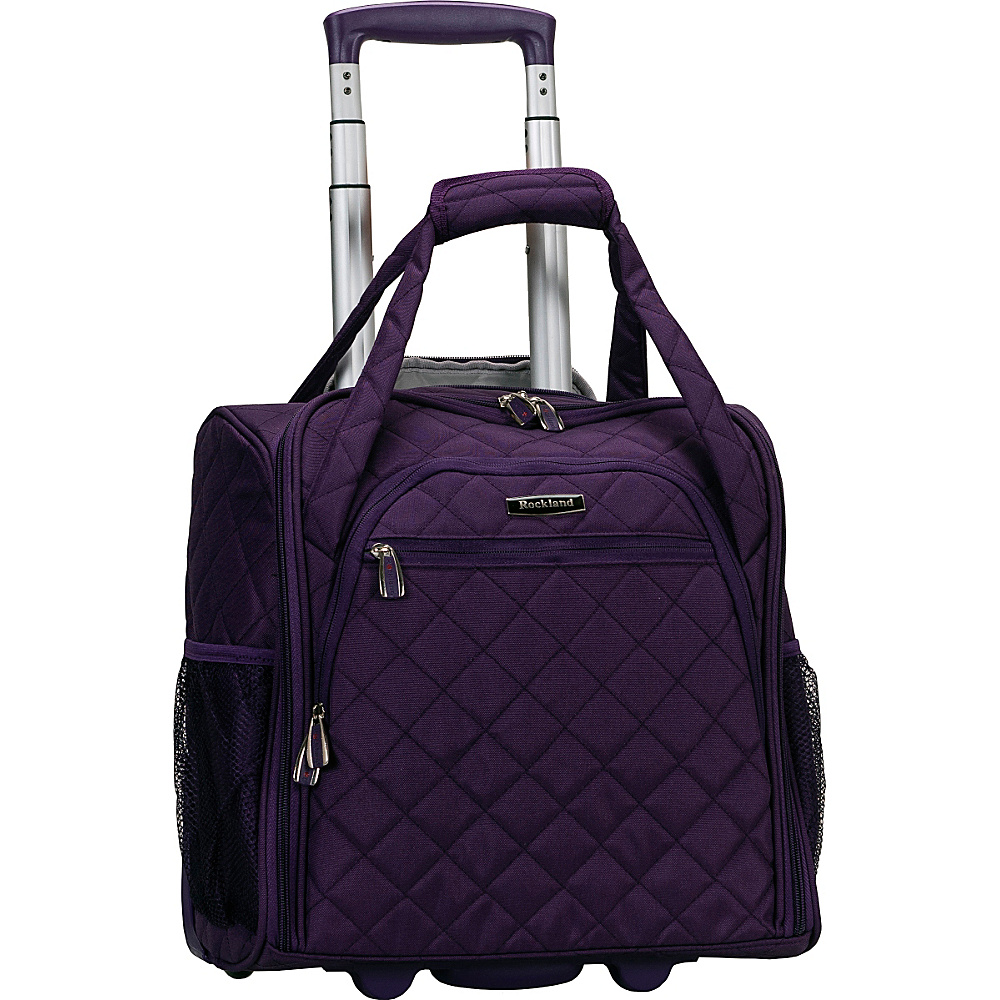 Rockland Luggage Wheeled Underseat Carry On Purple Rockland Luggage Softside Carry On